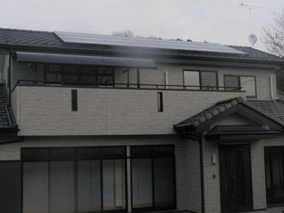 市内オール電化+太陽光発電新築住宅