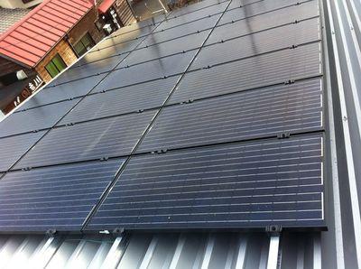 弊社資材倉庫太陽光発電