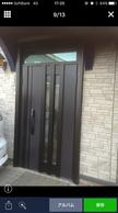 玄関リフォームドア工事